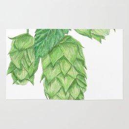 Beer Hops Botanical Painting Rug