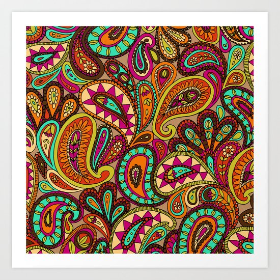 Basic Paisley  Art Print
