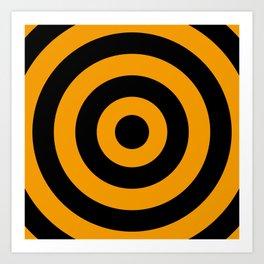 Target (Black & Orange Pattern) Art Print