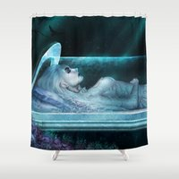 frozen Shower Curtains featuring Frozen by Michele Frigo