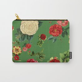 Green vintage roses Carry-All Pouch