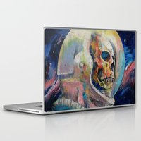 astronaut Laptop & iPad Skins featuring Astronaut by Michael Creese