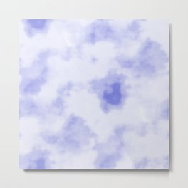 Blue and White Clouds Metal Print