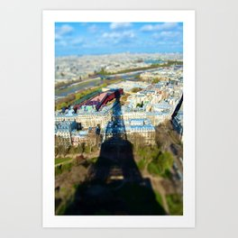 Paris : Tilt Shift Art Print