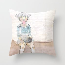 Bubblegum bubblegum in a dish... Throw Pillow