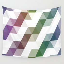 Rainbow Triangles Wall Tapestry