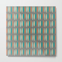 Contemporary Mid-Century Modern Geometric Pattern Metal Print