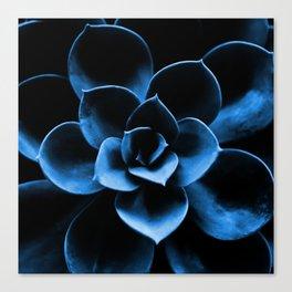 Dark Blue Succulent Plant #decor #society6 #homedecor Canvas Print