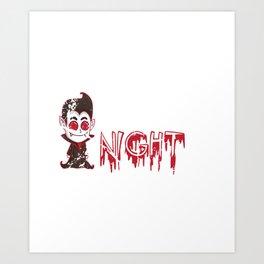 Vampire Creature Of The Night Halloween Art Print