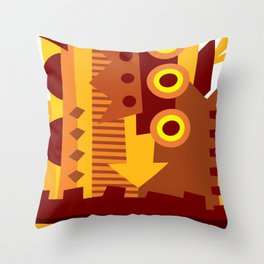 Chocolate City Throw Pillow