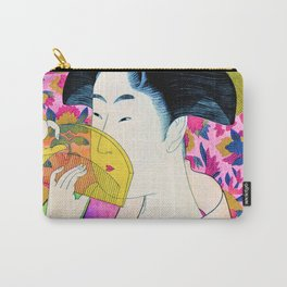 Kitagawa Utamaro - Woman With A Comb - Digital Remastered Edition Carry-All Pouch