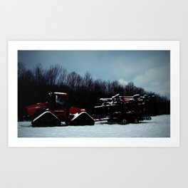 Left out in the snow! Art Print