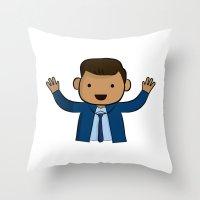 michael scott Throw Pillows featuring Michael Scott - The Office by Joe Bidmead