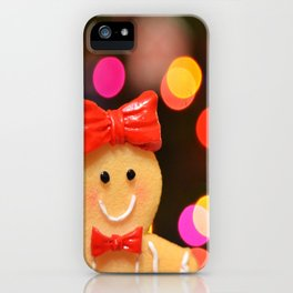 Gingerbread Bokeh iPhone Case