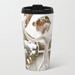 Naked Cowboy (retro color) Travel Mug