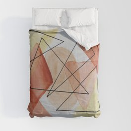 Geometry And Colors Comforters