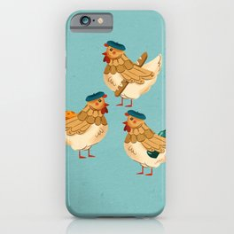 12 Days of Christmas: 3 French Hens iPhone Case
