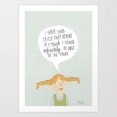 Pippi Art Print