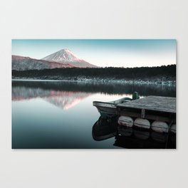 Peaceful Scenes from Mount Fuji Canvas Print