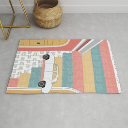 Whimsi-Collage: Road Trip Rug