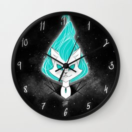 ScribbleNetty (Turquoise) Wall Clock