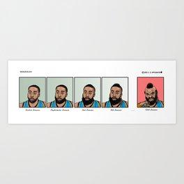 Evolution of J. Harden  Art Print