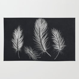 Chalk feather collection Rug