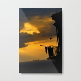 sunset in Calabria Metal Print