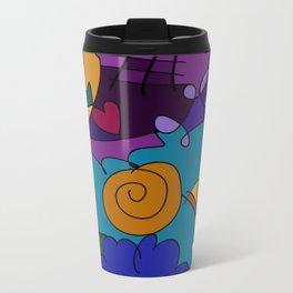 """Before the Celebration"" bold, colorful doodle art Metal Travel Mug"