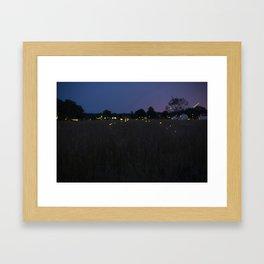 Lanterns in the Sky Framed Art Print