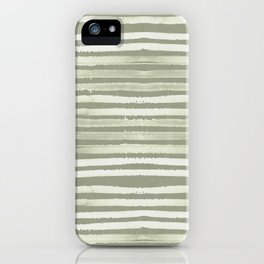 Simply Shibori Stripes Green Tea and Lunar Gray iPhone Case