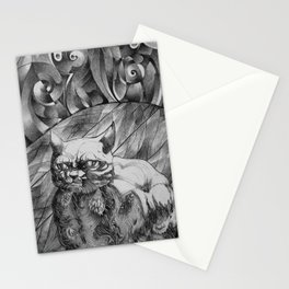 Fat Cat Fur Ball Stationery Cards
