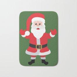 Christmas Santa Claus Says Welcome to You Bath Mat