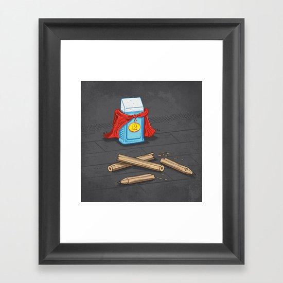 Super Rubber Framed Art Print