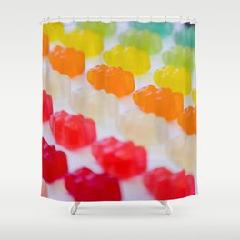 Gummy Bears Rainbow Shower Curtain