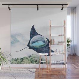 Space Manta Ray Wall Mural
