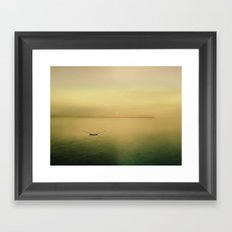 Serene buoyancy Framed Art Print