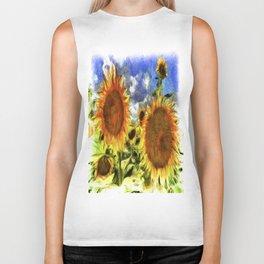 Sunflowers Vincent Van Goth Biker Tank