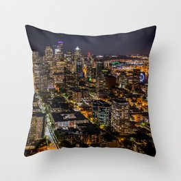 Seattle Nights Throw Pillow