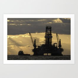 Offshore Rig at Dawn Art Print