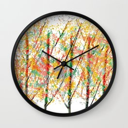 Colorful Trees 4 Wall Clock