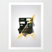 polaroid Art Prints featuring Polaroid by condemarin