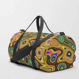 Color statement, abstract pattern Duffle Bag
