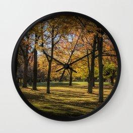Fall City Park Scene Wall Clock