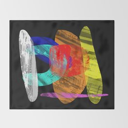 Pastel Pieces - Abstract, pastel artwork Throw Blanket