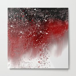 Red Abstract Metal Print