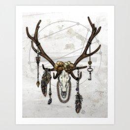 Bestial Crowns: The Elk Art Print