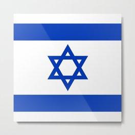 Israel Flag Metal Print