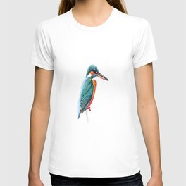 kingfisher bird painting T-shirt