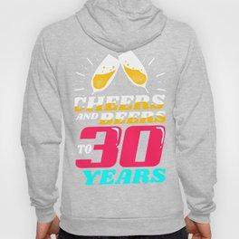 30th Birthday 30 Years Celebration Hoody